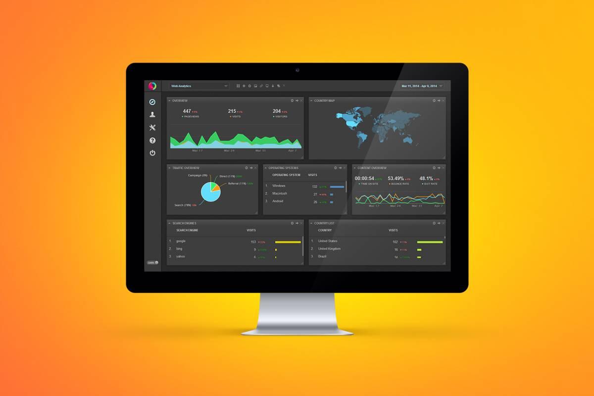 digital business dashboard - web analytics