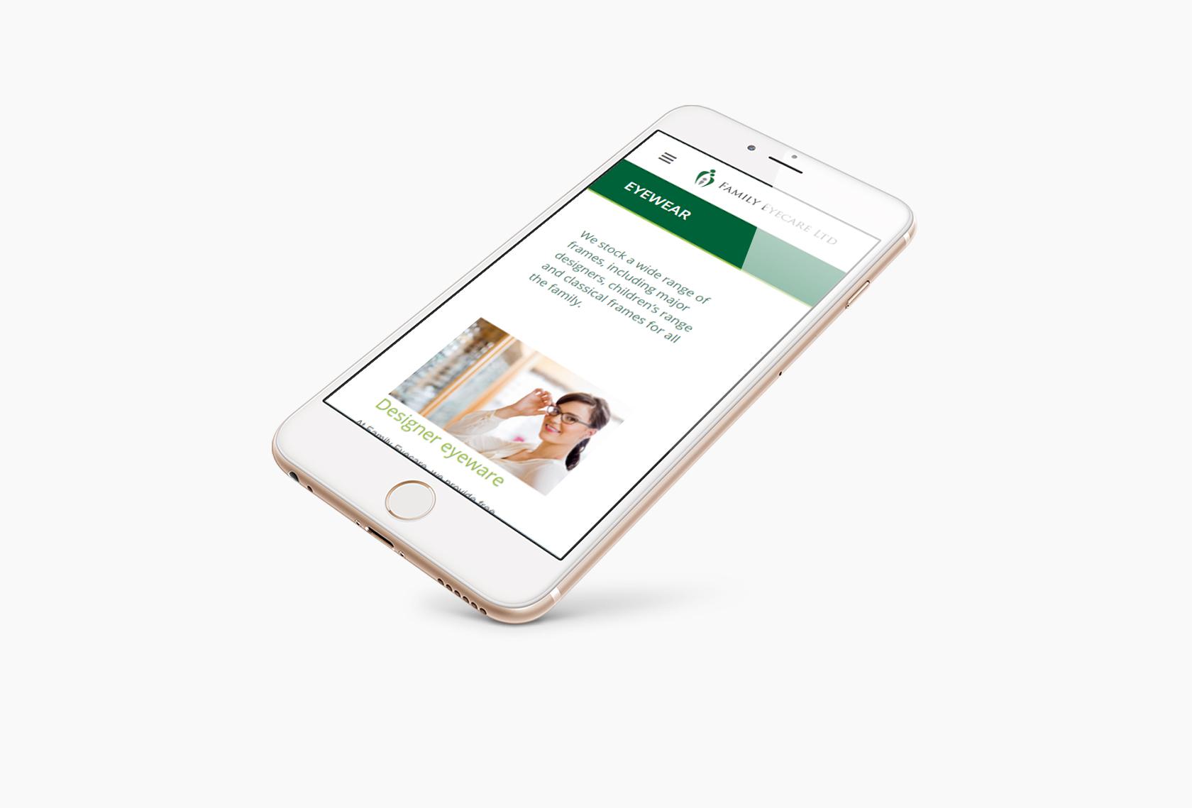 Family Eyecare Mobile - Family Eyecare - Creative Digital