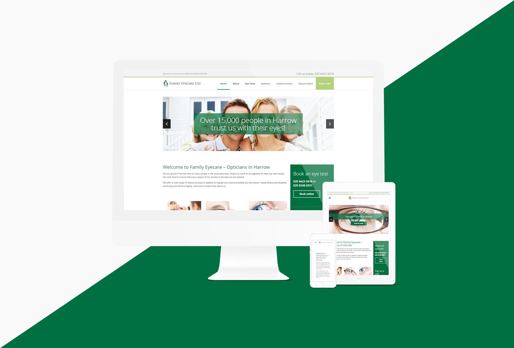 Family Eyecare Responsive Design - Family Eyecare - Creative Digital