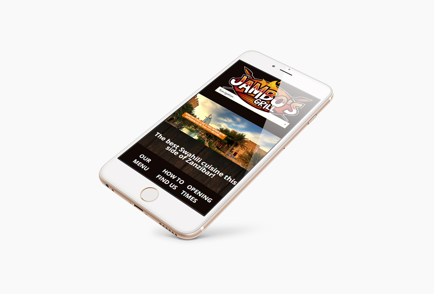Jambos Grill Mobile - Jambo's Grill - Creative Digital