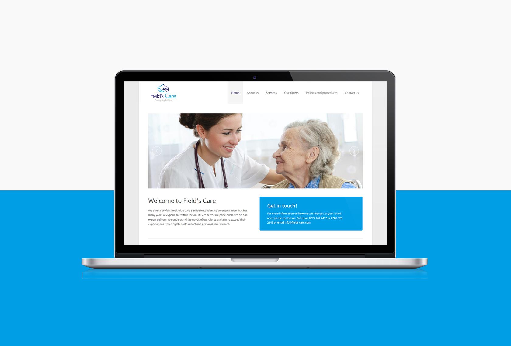 Fields Care Desktop - Fields Care (Website) - Creative Digital