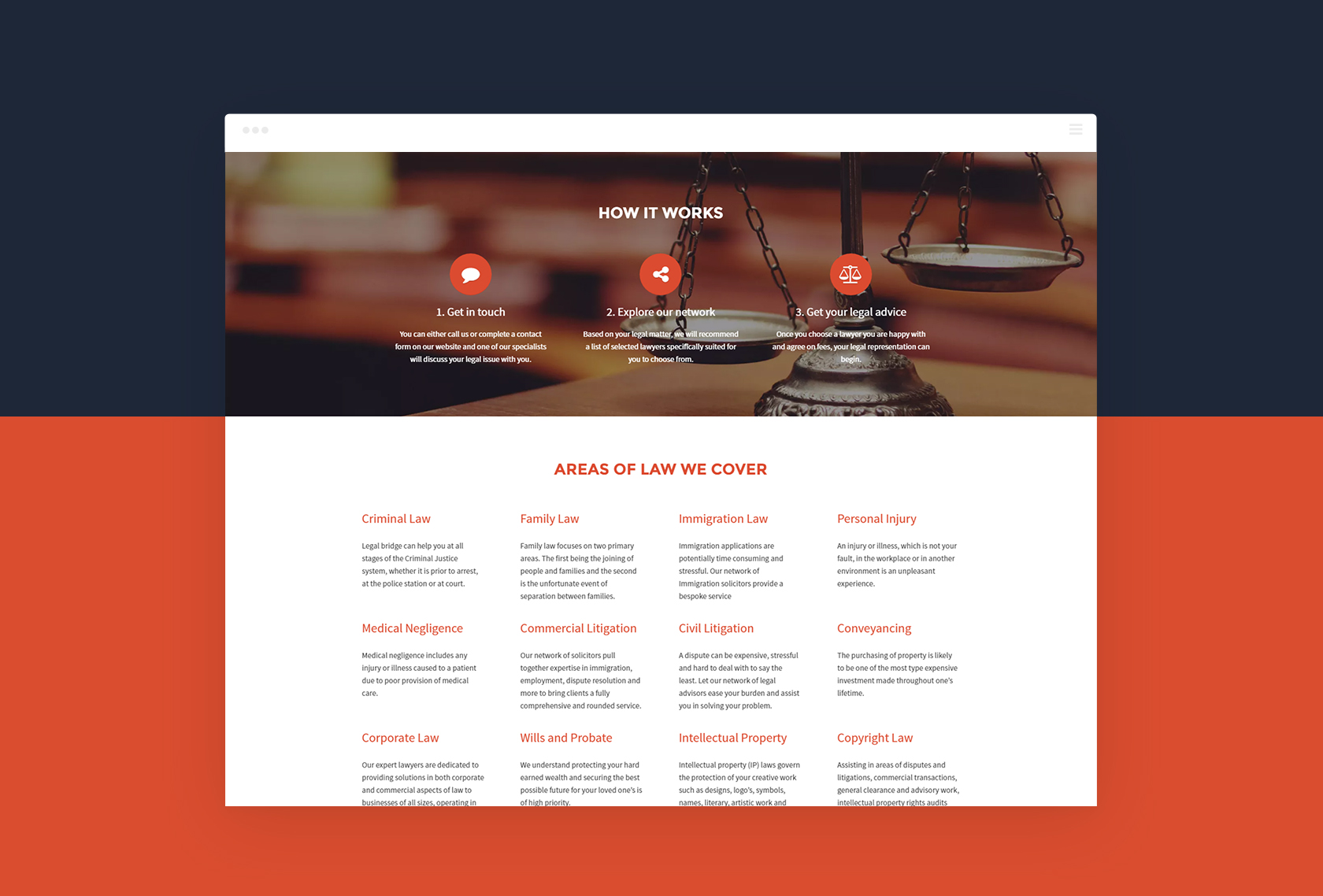 Legal Bridge Homepage - Legal Bridge - Creative Digital