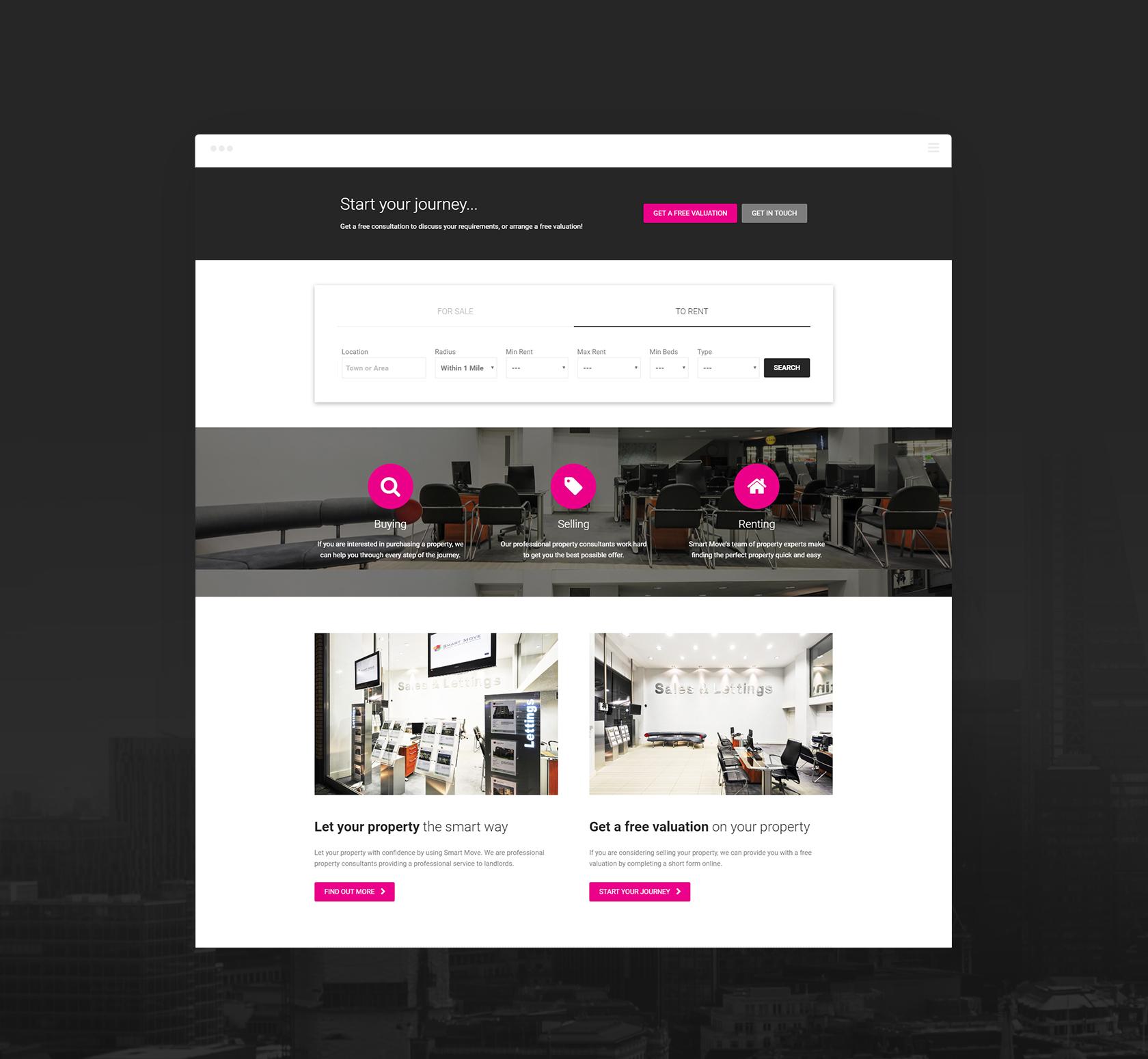Smart Move Homepage - Smart Move (website) - Creative Digital