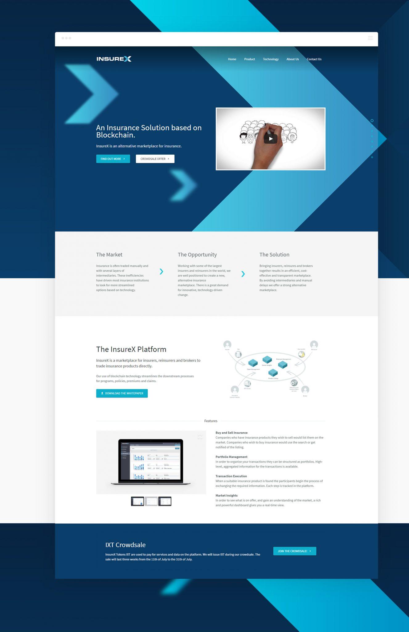 InsureX Home 1 - InsureX (Branding) - Creative Digital