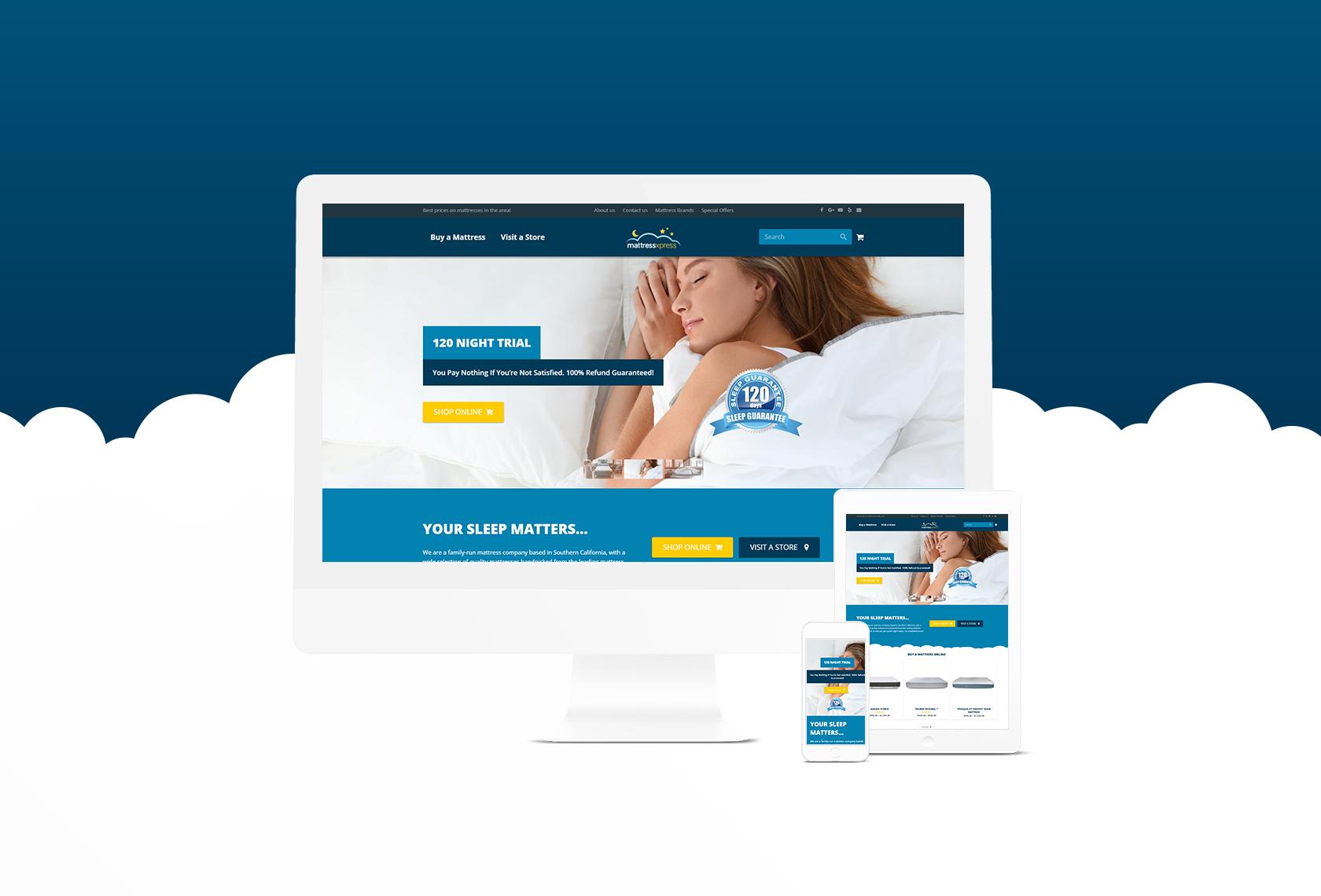 Mattress Xpress Website 1 - Mattress Xpress - Creative Digital