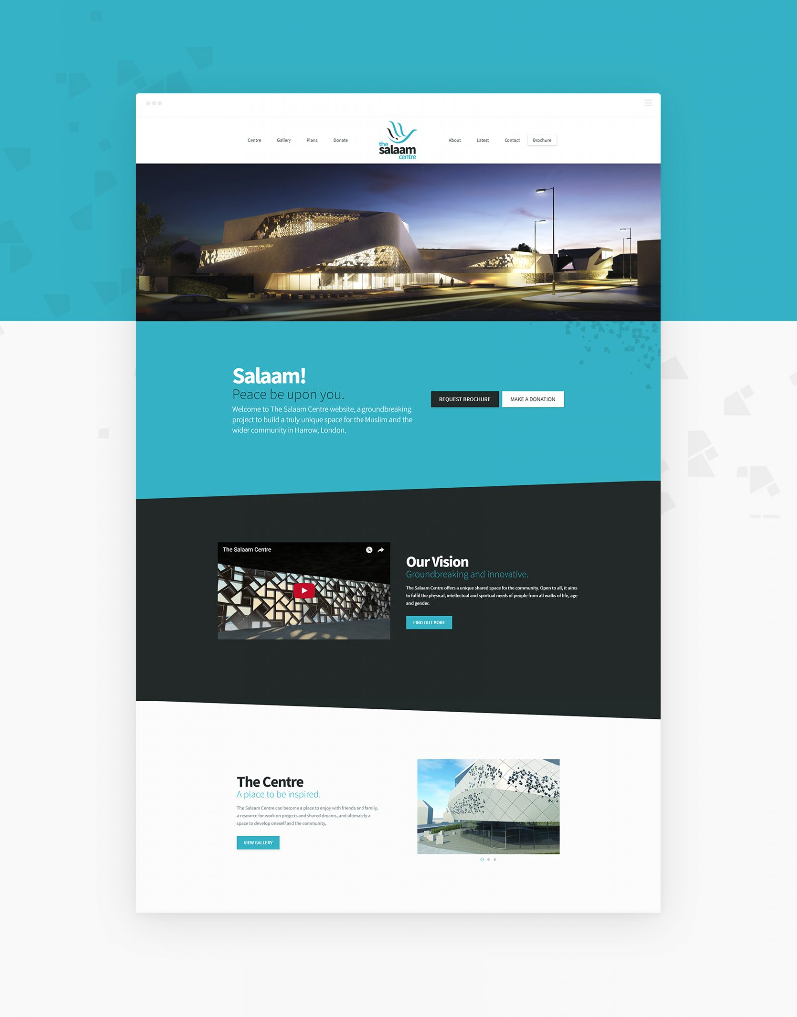 Salaam Homepage - The Salaam Centre (Website) - Creative Digital